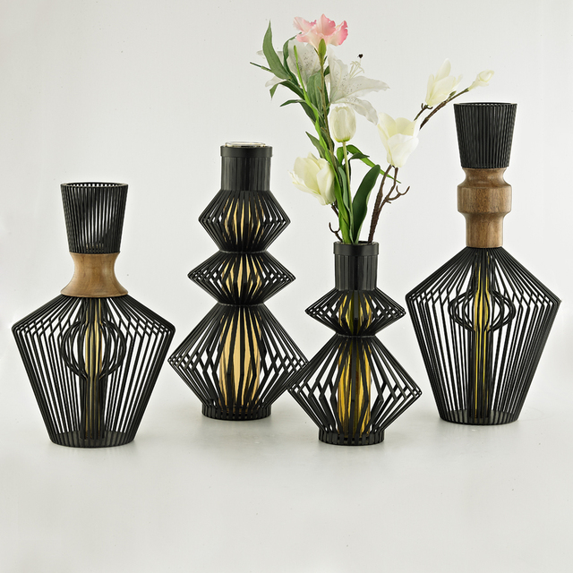 Modern Tabletop Vases Metal Flower Vases Modern Minimalist Fashion