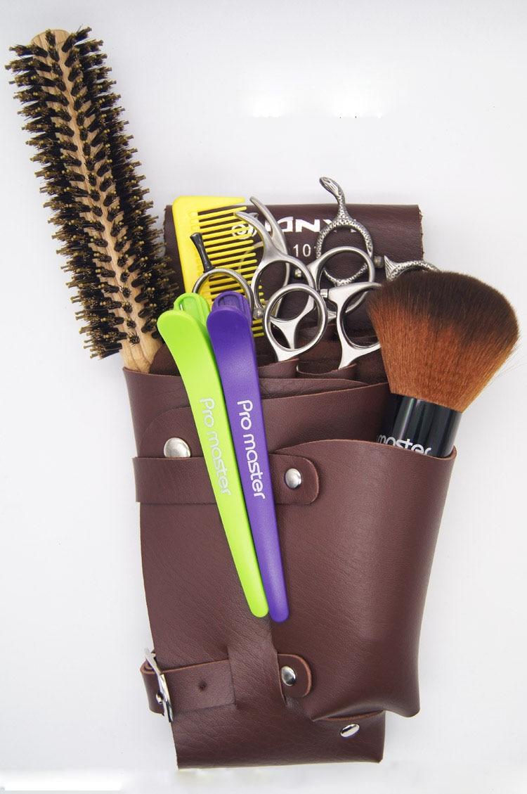2016 New Leather Barber Scissor Bag Salon Hairdressing
