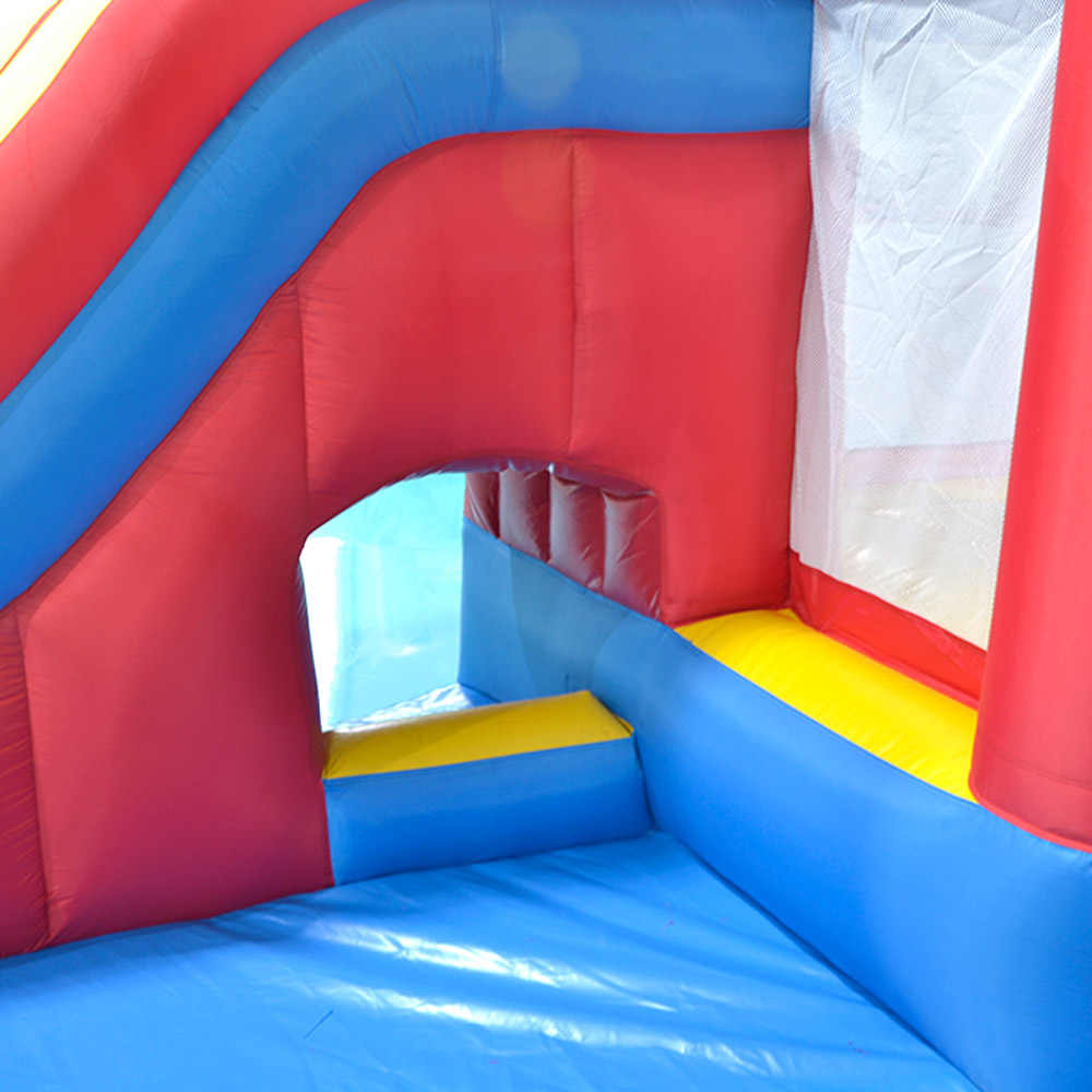 Patio juegos inflables Castillo parque acuático con tobogán de piscina para niños 4,7*3,1*2,3 m casa inflable gigante de juegos acuáticos