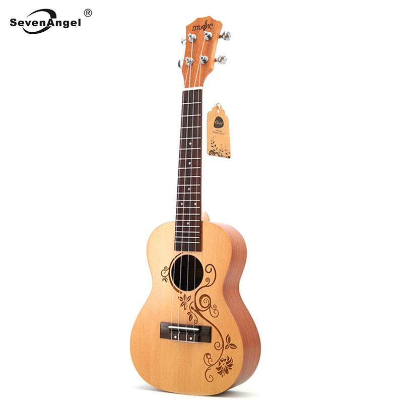 23 ukulélé Concert acoustique petite guitare Instruments à cordes palissandre Fretboard épicéa bois électrique Ukelele avec ramassage EQ