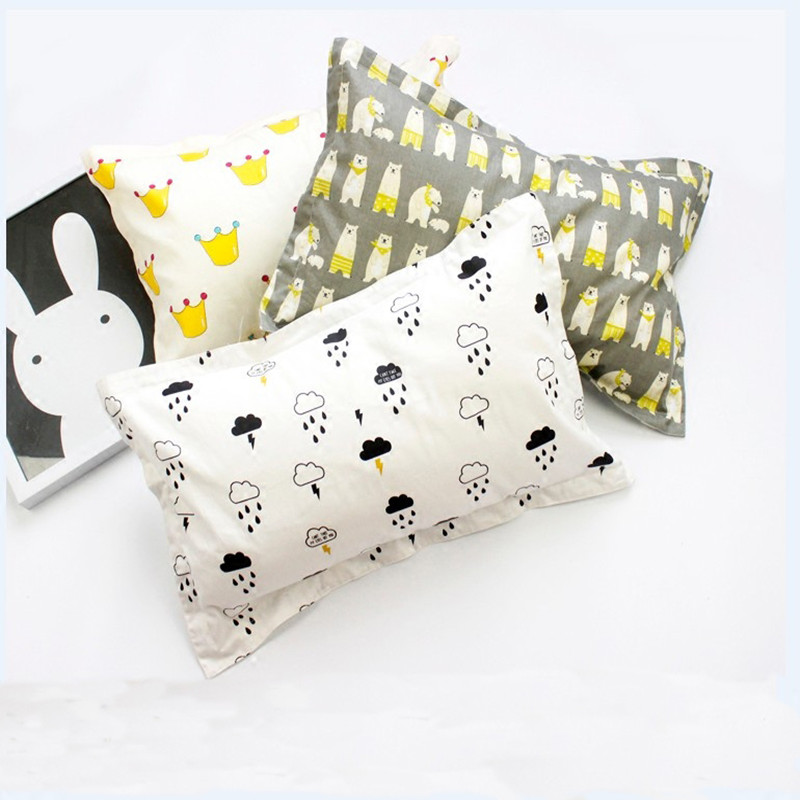 35*55CM 100% Cotton Baby Pillowcase Infant Pillow Case Animal Newborns Pillow Cover Cartoon Envelope Child Pillowcase Boys Girls