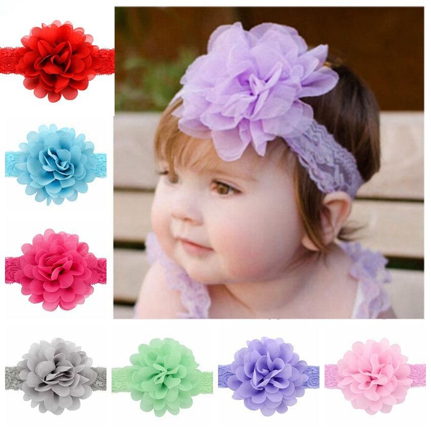Hair Accessories Girl Kid Rose Bow Lace Flower Elastic Headband Newborn Hairband Headband Accesorios Para El Pelo Sale Price