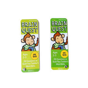 Image 4 - Brain Quest English Version Of the Intellectual Development Card Sticker Books Questions And Answers Card Smart Start Child Kids