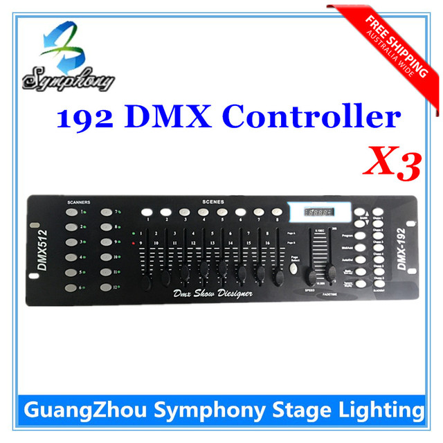 Wholesale Prices 3Pcs DMX 192 Controller, For Stage Lighting 512 Dmx  Console DJ Controller Equipment