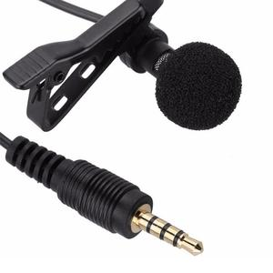 3.5mm Jack Clip-on Lapel Microphones Lavalier Tie Mikrofon Microfono Mic for Mobile Phone For Speaking Lectures(China)