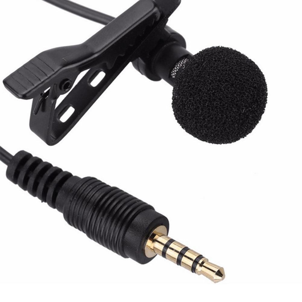 HobbyLane 3.5mm Jack Microphone Tie Clip-on Lapel Mikrofon Microfono Mic For Mobile Phone D15