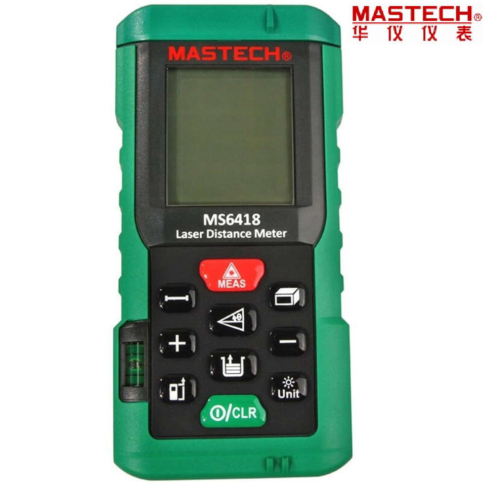 1pcs MASTECH MS6418 Laser Distance Meter 80M Distance Measure Digital Range Finder With Bubble level mastech ms6418 laser distance meter 80m distance measure digital range finder with bubble level