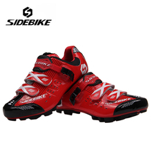 SIDEBIKE Professionnel Vélo VTT Vélo Chaussures Hommes Femmes Respirant Vtt Racing Chaussures de Sport Auto-Verrouillage Chaussures