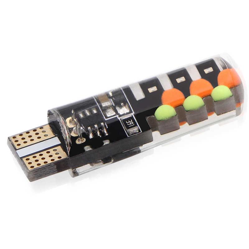 新しいユニバーサル車 RGB Led W5W T10 RGB COB 12SMD クリアランスライトカラフルなマルチモード車の電球とリモートコントローラ 12 ボルト