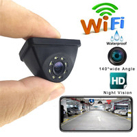 HD WiFi Wireless Car Rear View Cam Backup Reverse Camera Night Vision 150 degrees