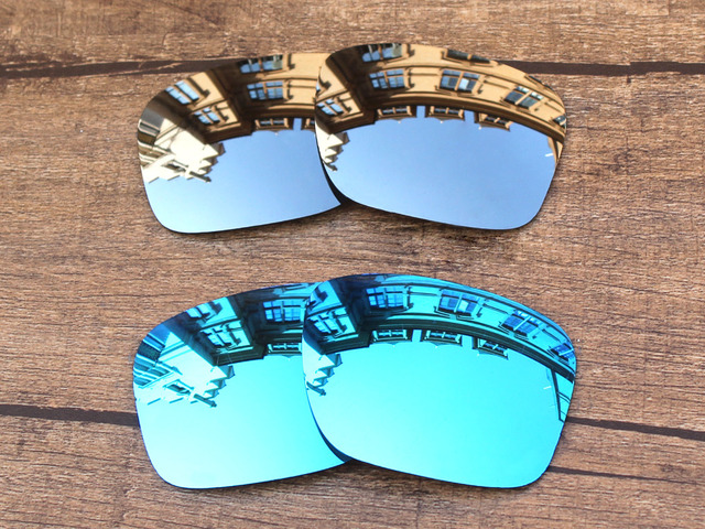 e4fc703dae Chrome Silver   Green 2 Pairs Mirror Polarized Replacement Lenses for  Holbrook Sunglasses Frame 100%