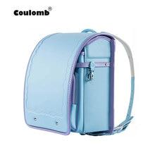Coulomb japanese school bag randoseru children shcool bags for girs high quality PU Teenagers beautiful from japan