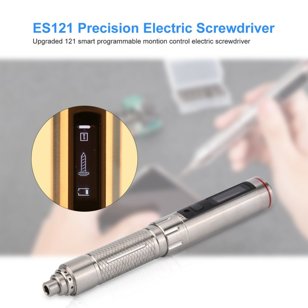 ES121 Precision Electric Somatosensory Screwdriver Smart Motion Control 3 Axis Gyro OLED Screen With Scewdriver Bits