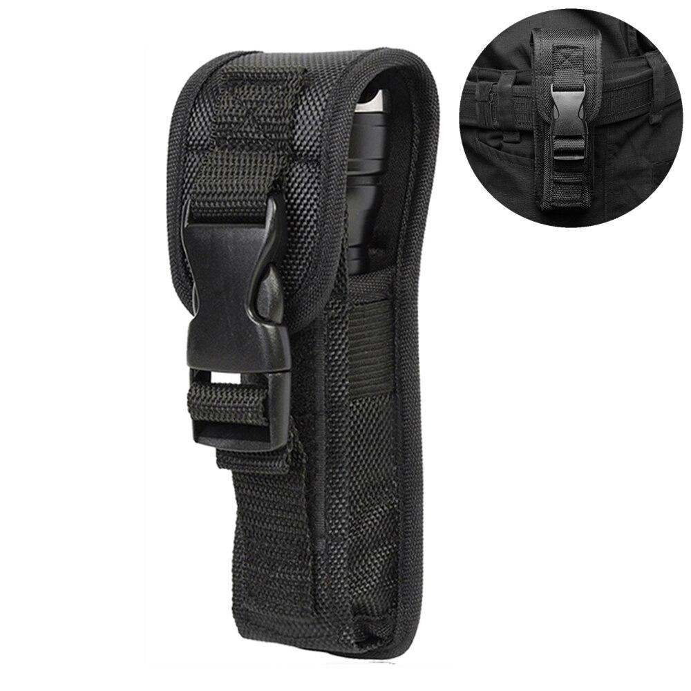 Tactical Flashlight Pouch Case LED Torch Flashlight Holster For Duty Belt Holder Portable Torch Waist Bag