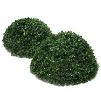 35 cm Z Tworzywa Sztucznego Topiary Conifer Drzewo Zielony Liść Efekt Ball Wiszące Wystrój Domu