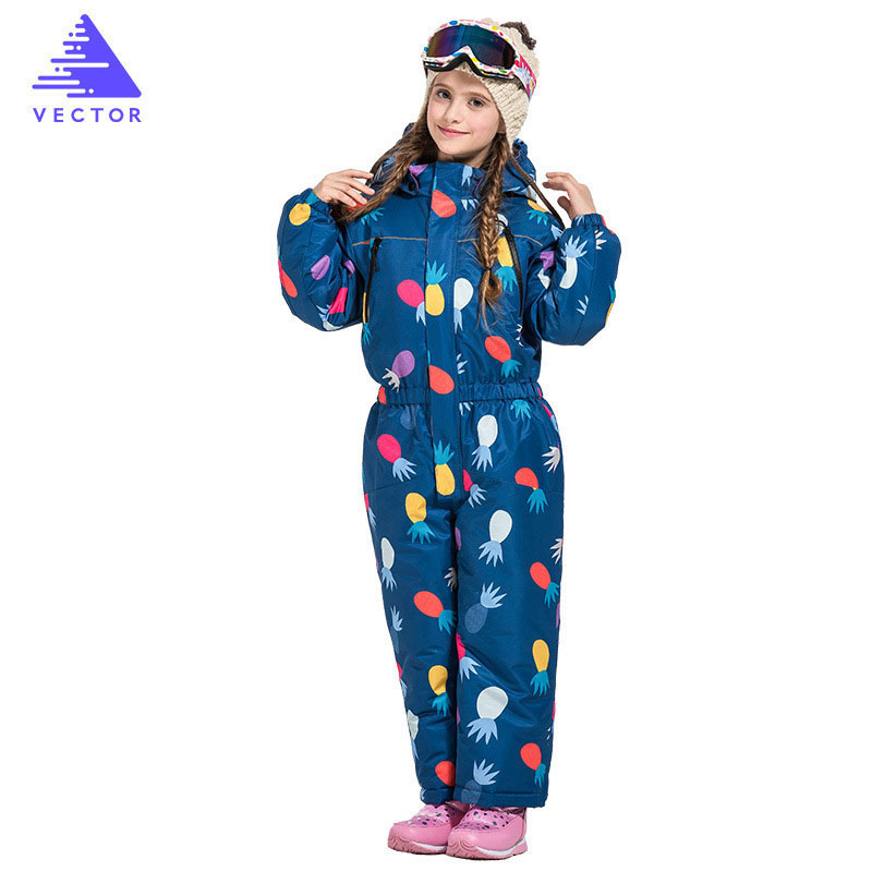 Girls Boys Ski Jackets High Quality Winter Waterproof Windproof Kids Ski Jacket Hooded One-piece Little Children Clothing