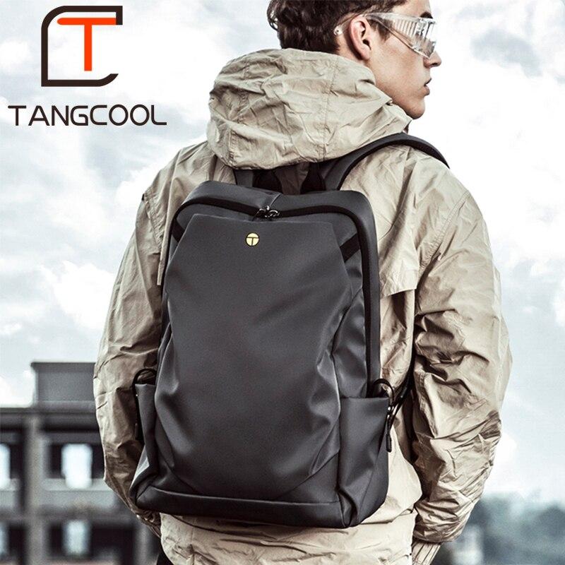 все цены на Tangcool Fashion backpack15 inch Laptop Backpack Men Travel Backpack Waterproof School Bag Male Mochila онлайн