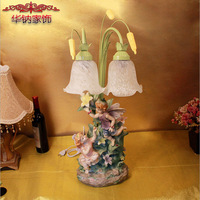 2017 Real New My Little Angel Decor Lamp Ornaments European Resin Crafts Gifts Home Furnishing Decoration