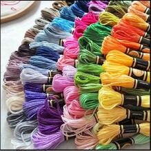Выбирайте любые цвета 4470 шт./лот нить для вышивки крестиком нить 8,7 ярдов/шт 6 нитей