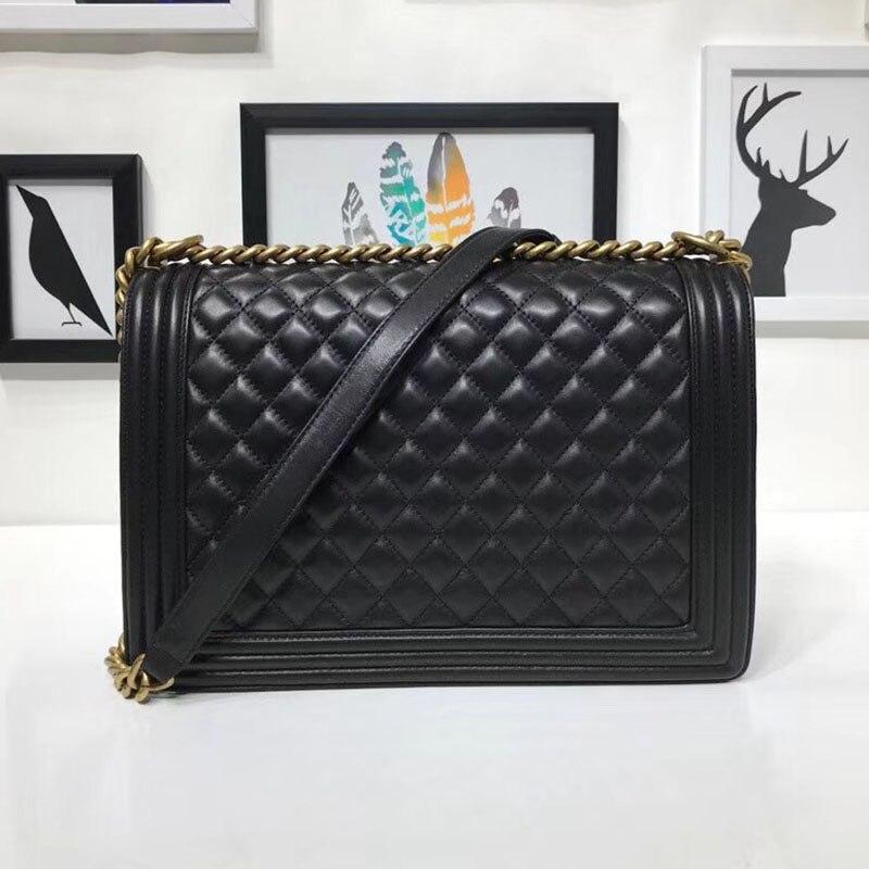 Agneau de luxe en cuir véritable sacs à bandoulière top qualité femmes marque sacs à main sac bandoulière Femme classic Le Garçon flap chaîne sacs