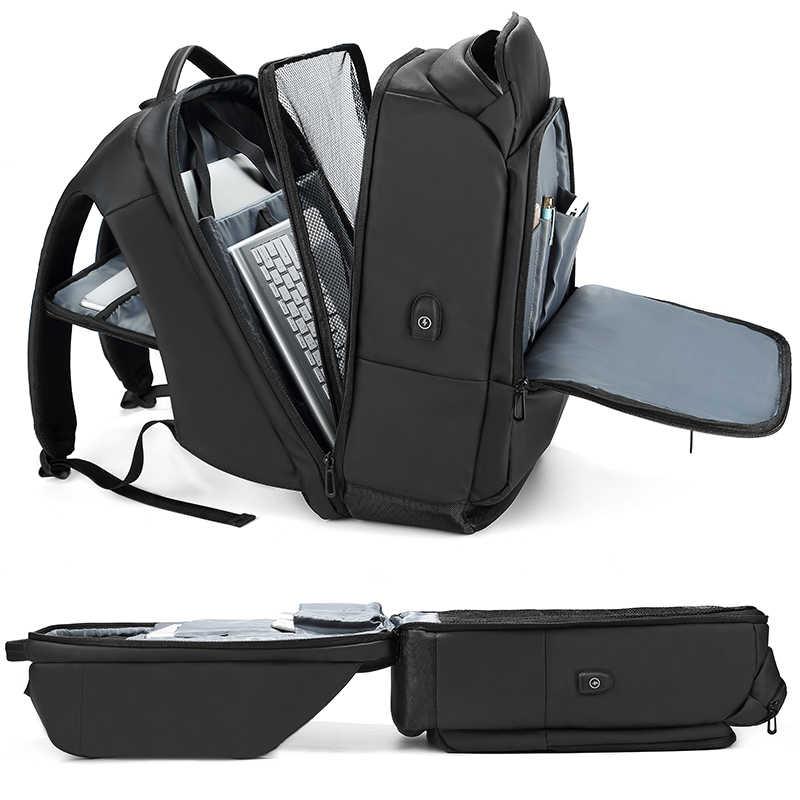 EURCOOL Ba Lô Laptop 17 Inch Dành Cho Nam Thấm Nước Năng Có Túi Kèm Cổng Sạc USB Du Lịch Ba Lô Nam N1755