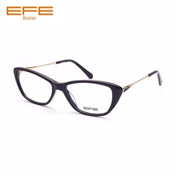 3d724d391e Gafas de prescripción personalizada EFE gafas cuadradas transparentes para  hombres y mujeres lentes de dióptero gafas de miopía ligera E62016