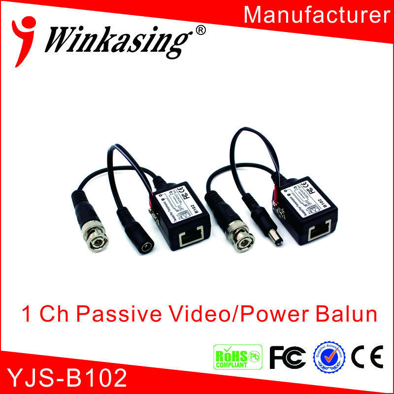 10pairs 1 channel passive power video transceiver video balun bnc to rj45 with power c 4 0 полное руководство