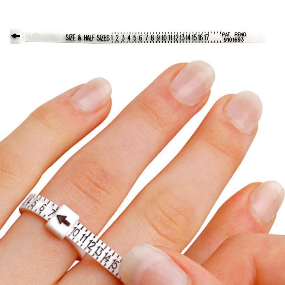 Measure Finger Sizer Ring Gauge All UK Sizes A-Z+6  Plastic 32 Piece Hot Sale