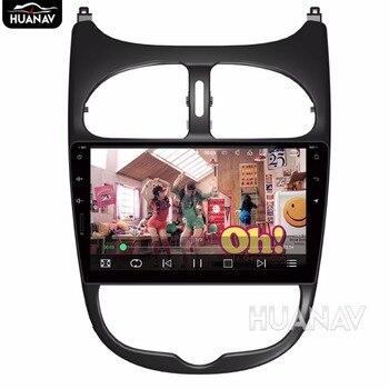Android 8,0 4GB + 32 GB/Android7.1 2GB + 16GB reproductor de DVD para coche navegación GPS para Peugeot 206 2000-2016 Unidad de navegación GPS para coche
