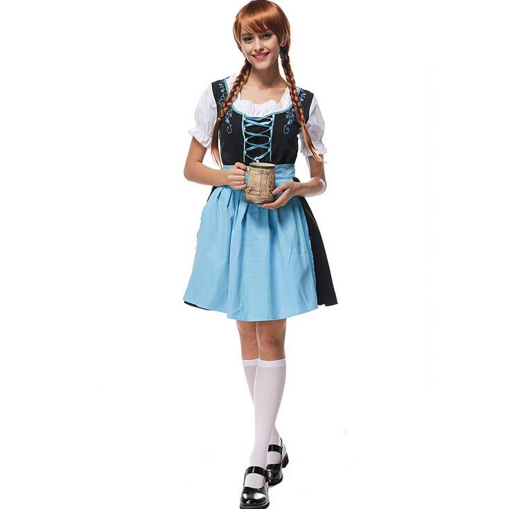 US $22.24 11% OFF|Retail New LONG Red Oktoberfest Plus size 6XL Beer Maid  Peasant Dress Costume German Wench costume dress-in Holidays Costumes from  ...