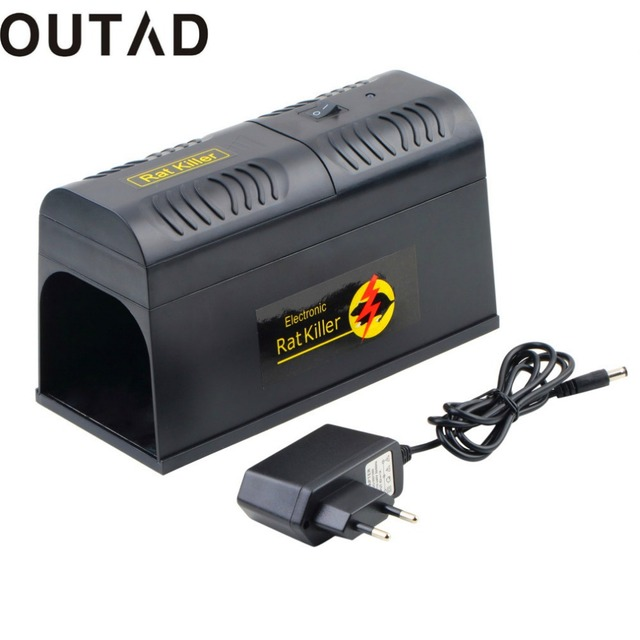 OUTAD Electronic Rat Trap Mice Mouse Rodent Killer Electric Shock EU Plug Adapter High Voltage Repeller Zapper Pest Control