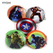 11cm*10cm Cute Style 3D Print Avengers Zipper Plush Coin Purse Kawaii Children  Women Wallets Mini Handbag