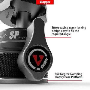 Image 3 - Vlogger universal tripé bola de cabeça com sapata fria montar 1/4 parafuso para led luz mic rápida cabeça bola instal dslr câmera cabeça