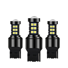 2x Car LED T20 7440 W21W Bulbs Turn Signal Brake Lights Reverse Lamp White Yellow Red 15W Automobile Tail Canbus No Error