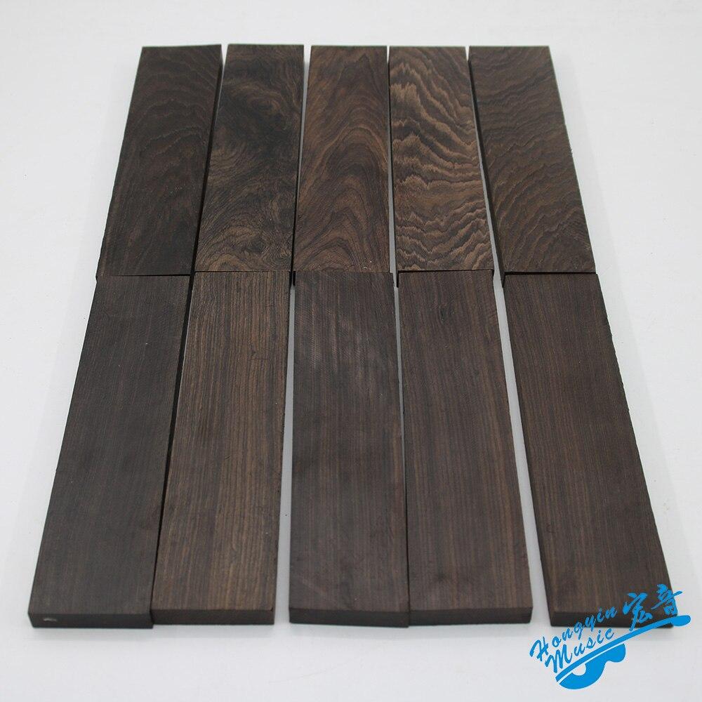 Mozambique Ebony Material For Guitar Bridge High Quality African Blackwood Guitar Accessories Raw Materials 20*5*1.2cm
