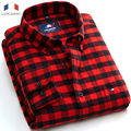 Langmeng Free Shipping Fashion Plus Size Mens Long Sleeve Flannel shirts Warm dress Shirt Autumn men Shirts camisa masculina