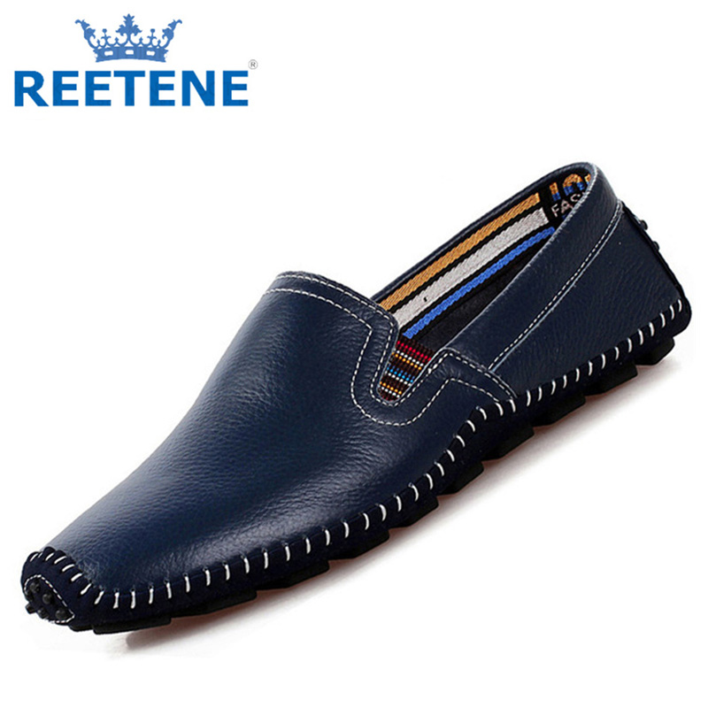 Loafers Men,Genuine Leather Shoes Men,2016 New Brand Casual Men Shoes,Mens Flats - REETENE store