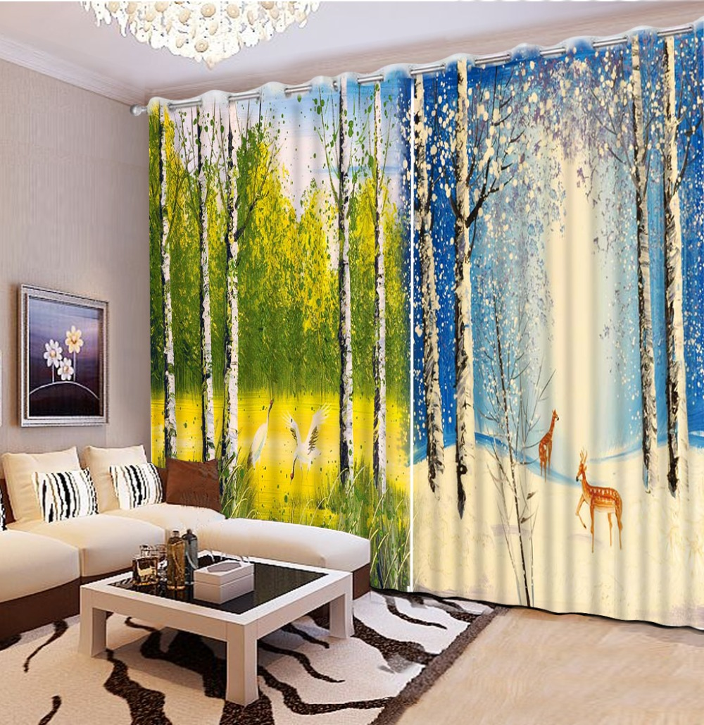 Window Treatments Home Textile Practical Noenname_null 3d Printing Curtains Beautiful Lifelike Hd 3d Curtains Bedroom Decoration Living Room Cortinas Cl-dlm095 For Improving Blood Circulation