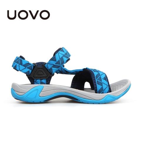 UOVO 2019 Kids Sandals Open Toe Boys Sandals Textile Children Sandals Light-weight Sole Little Boys Summer Shoes size 28#-35# Lahore