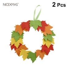2PCS DIY Crafting Accessories Materials Set Handmade EVA Leaf Wreath Hanging Decorations Kids Educational Toys