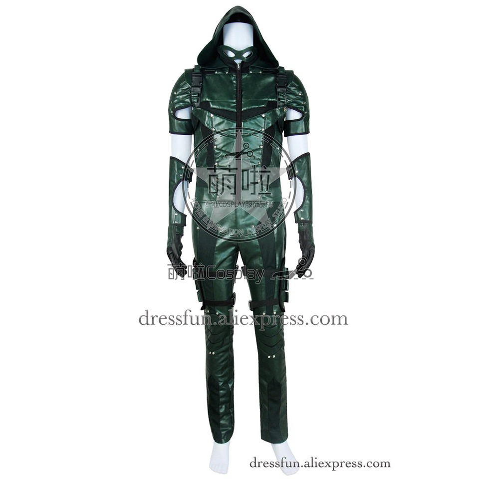 Green Arrow Season 4 Cosplay Oliver Queen Costume Full Set New Uniform Outfits Suit Halloween Party Fast Shipping