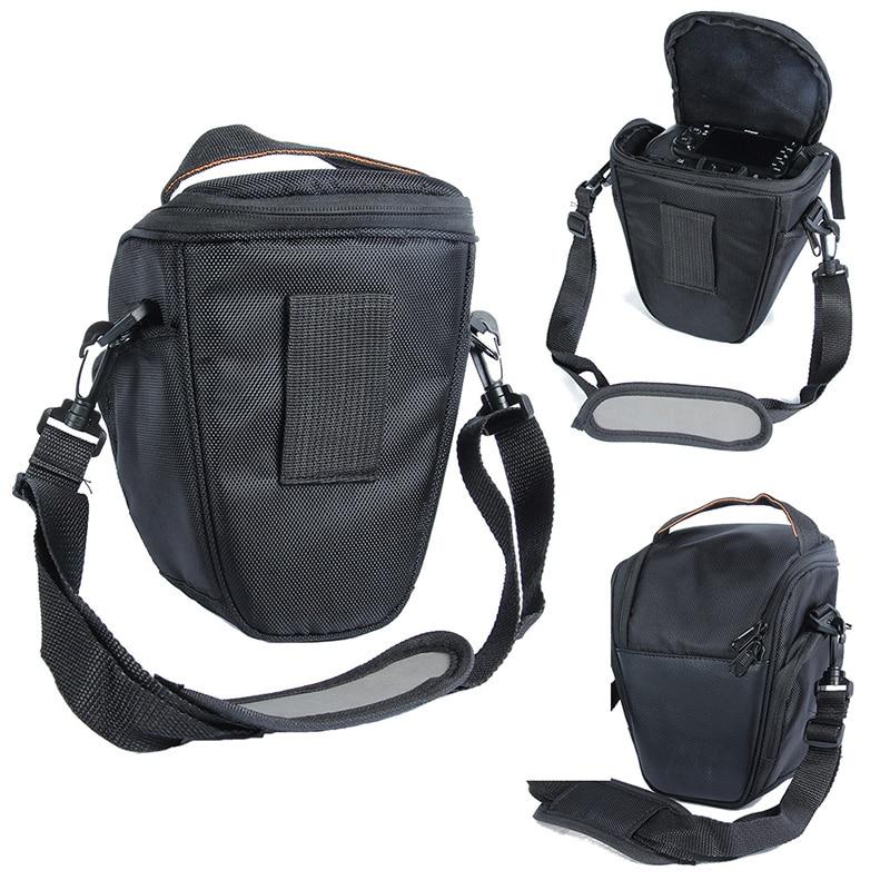 Portable Adjustable Black Nylon Waterproof Camera Bag Case For Sony Canon Nikon D5200 D5100 D5000 D3100 With Shoulder Strap 5035