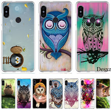 Case Dier Leuke Cartoon Uil Diy Tekening Voor Xiao mi rode Mi mi 8 se note 5 5A 6 6X pro mi x 2 s A2 LITE Plus 4X 4A S2 F1 7 gaan(China)