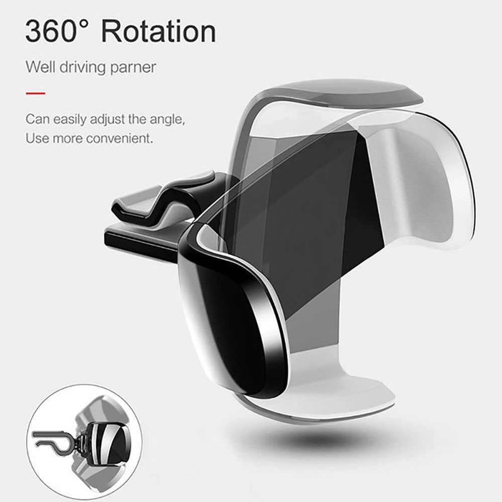 Moible Phone Holder Air Vent Car Mount 360 Rotation Air Outlet Mobile Phone Bracket Car Holder Cradle Stand Holder for IPhone
