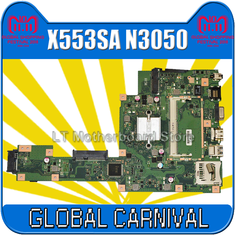 X553SA Motherboard N3050 CPU For ASUS X553S X553SA Laptop motherboard X553SA Mainboard X553SA Motherboard test 100% OK