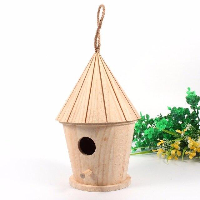 Aliexpress.com : Buy Mini Bird House Wooden DIY Bird House ...