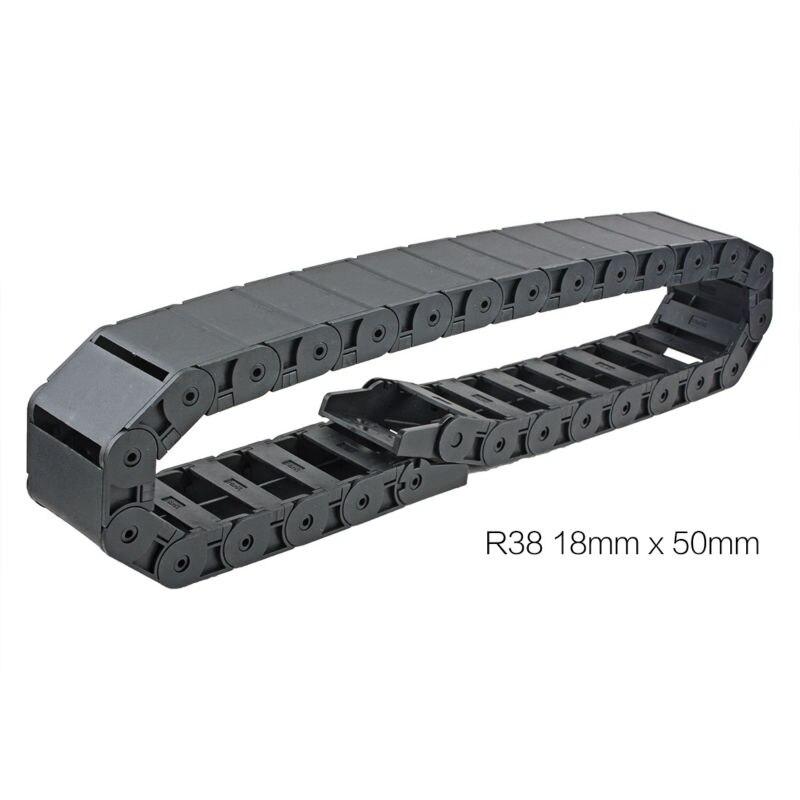 UXCELL Vendita Calda 18x50mm R38 Lunghezza 1 m di Plastica Semi Chiuso Vettore Filo Catena di Resistenza del Cavo per 3D Stampante Macchina del Router di CNC Strumento