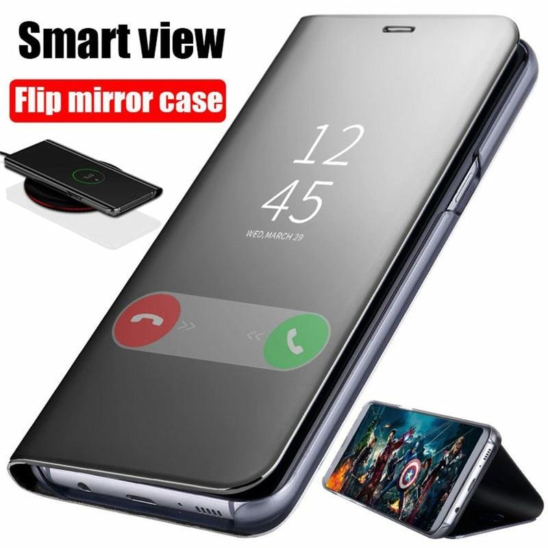Smart Mirror Flip Case For Samsung Galaxy S8 S9 Plus S10 S10e  S7 Edge S6 Note 9 8 5 4 3 A6 A8 A7 A9 Star 2018  Phone Cover