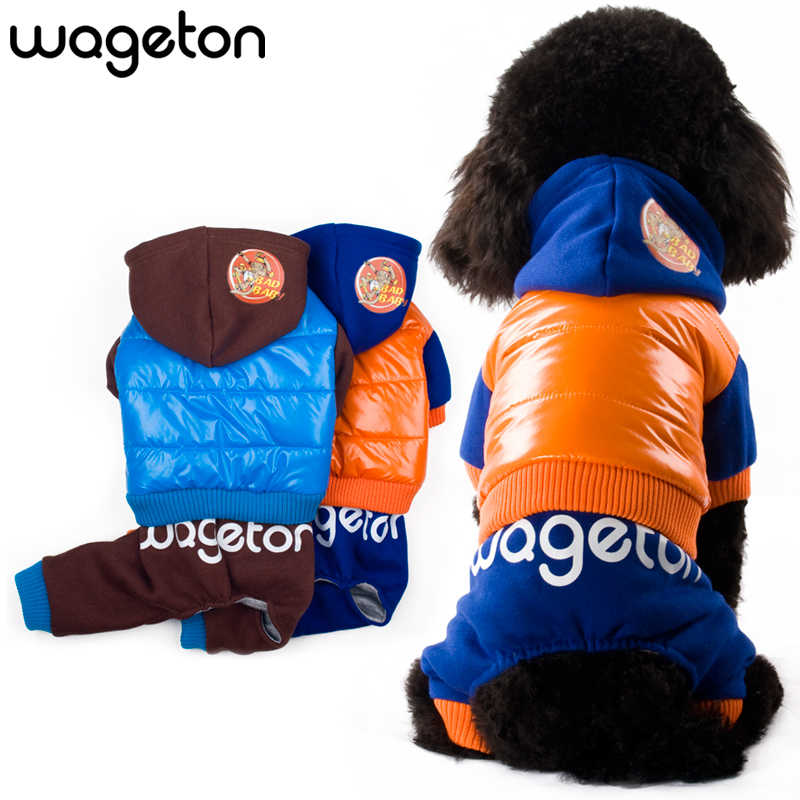 "Hot Apparel WAGETON Fashion Pet Winter Clothing ""BAD BABY"" Designer Dog Clothes  -2 Colors Pet Jumpsuits For Puppy And Cats"