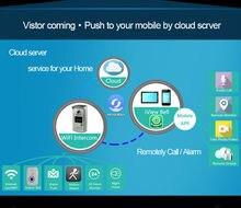 2016 dwelling digital surveillance sensible door bell door eye viewer wi-fi intercom cellphone wifi IP door digicam with movement sensor